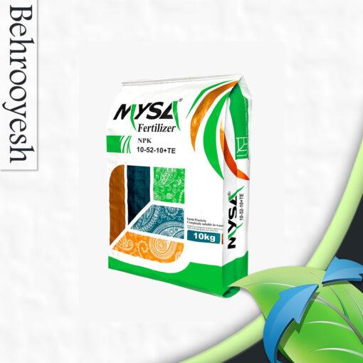 کود NPK 10 52 10 مایسا را می توانید از مجموعه بزرگ بهرویش خریداری کرده و از آن نهایت استفاده را ببرید. کود NPK 10 52 10 مایسا یک فرمولاسیون پایه کاملاً محلول دارد که فسفر زیادی را برای رشد سیستم ریشه گیاهچه های جوان فراهم می کند.