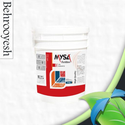 کود NPK 20-20-20 مایسا بصورت پودری و در سطل های 15 کیلوگرمی قابل عرضه می باشد. NPK 20-20-20 یک کود کامل است که با استفاده از مواد اولیه با کیفیت بالا تولید می شود و در میزان نیتروژن (N)، فسفر (P) و پتاسیم (K) به خوبی متعادل است.